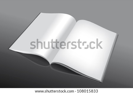 Open and empty book or magazine for all purposes