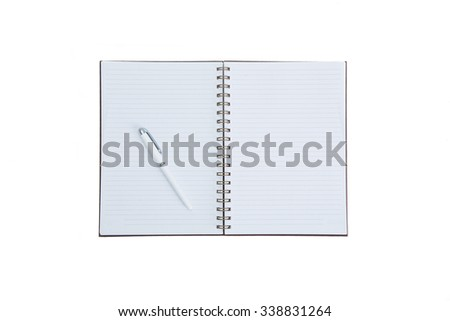 Open blank book isolated on white background - stock photo