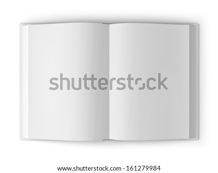 Open blank book isolated on white background with shadow - stock photo