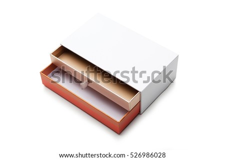 Open blank box on white background with shadow.