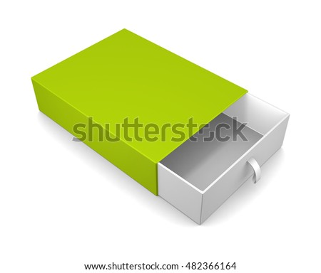 Open blank gift box isolated on white background. 3d render