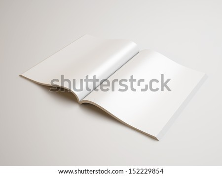 open blank magazine - stock photo