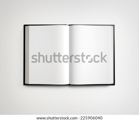 Open blank textbook - stock photo