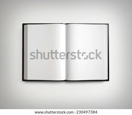 Open blank textbook - stock photo