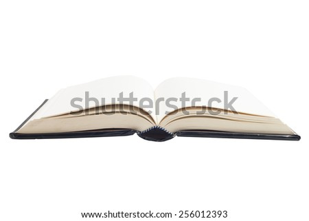 Open book back cover isolated