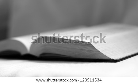 open book.black and white - stock photo