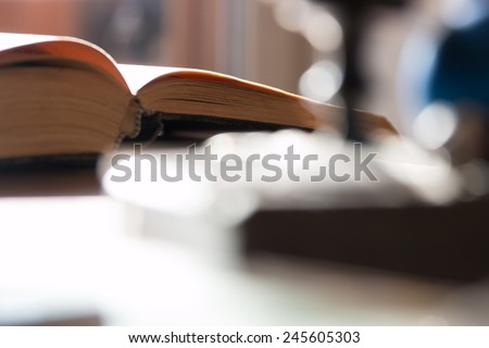 open book image for the background