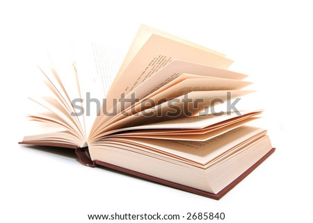 Open book in isolated background