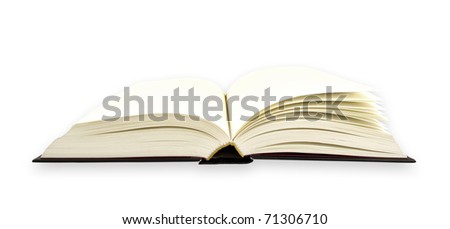 Open book isolated on the white background with clipping paths.