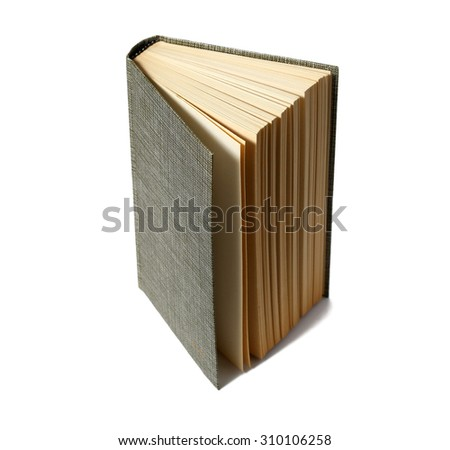 Open book isolated on white - stock photo