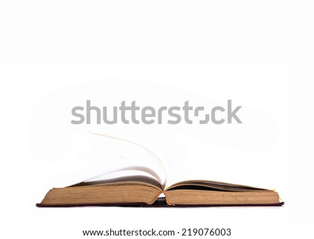 Open book isolated on white background