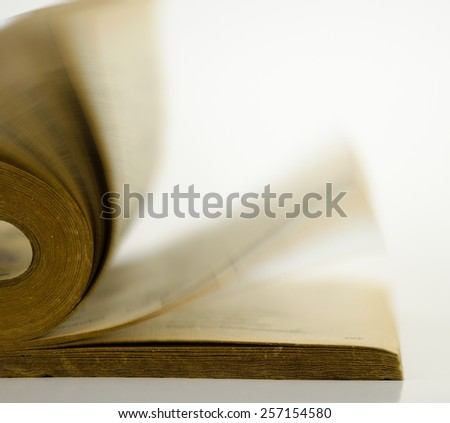 Open book isolated on white background. - stock photo