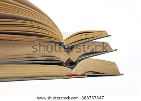 Open book isolated on white background.white background,open book,educational literature