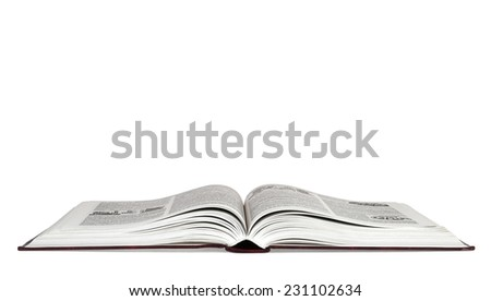 Open book isolated over white background - stock photo
