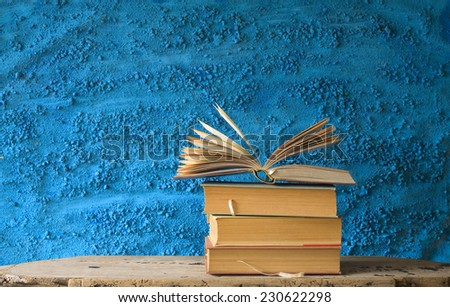 open book, literature,education,reading concept,free copy space - stock photo