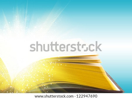 Open book magic - Education concept - stock photo