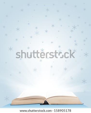 Open book magic - Education concept - stock photo