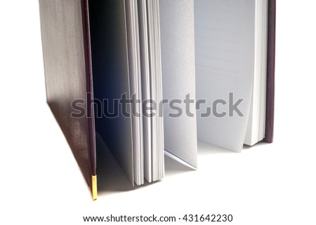 Open book on light table. Back to school. Copy space - stock photo