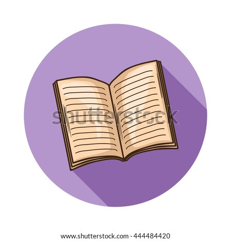 Open Book or magazine icon. open book icon isolated with shadow.Hand draw book .Open book,magazine icon isolated.