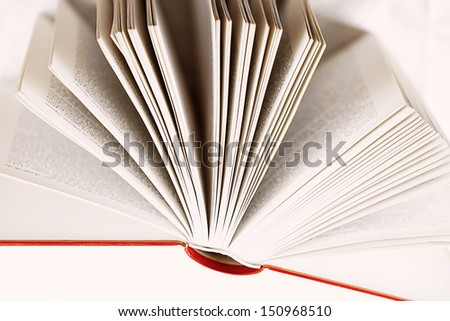 Open book, pages - stock photo