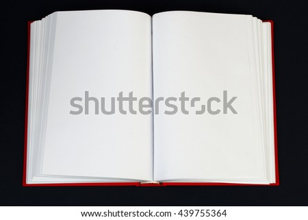 Open book, stack of hardback book on table. Back to school. Copy space. Top view - stock photo