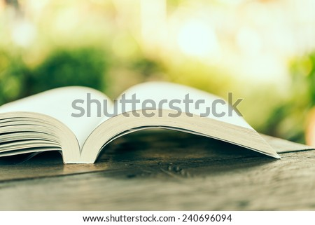 Open book - Vintage effect style picture processing - stock photo