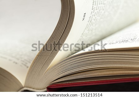 Open book with pages number  - stock photo