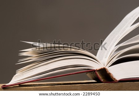 Open book with pages spreaded on both sides