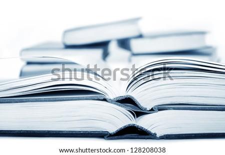 open books - stock photo
