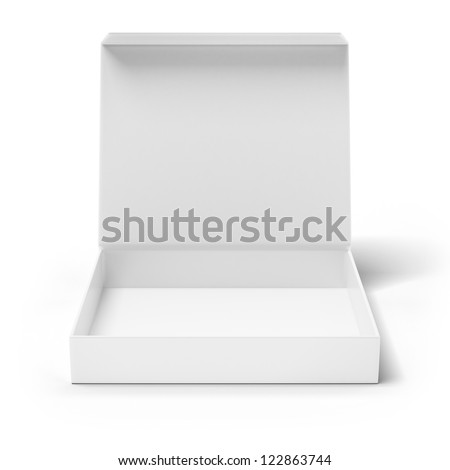 Open box isolated on a white background - stock photo