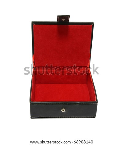 Open box red inside. - stock photo