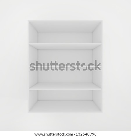 open cabinet for a product