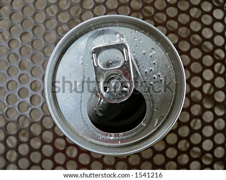 open can top, macro image