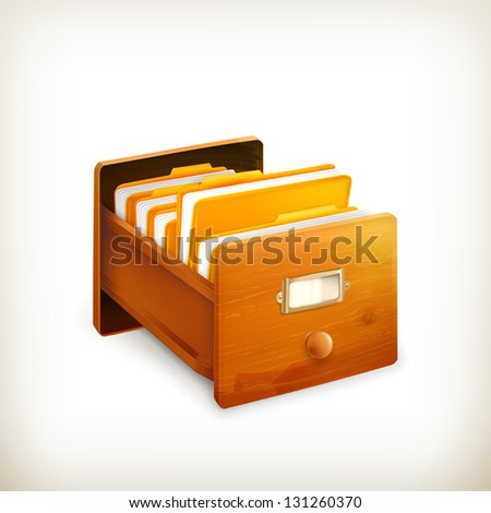 Open card catalog, bitmap copy - stock photo