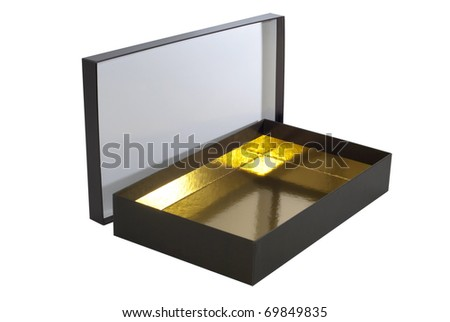 Open cardboard box isolated over a white background - stock photo