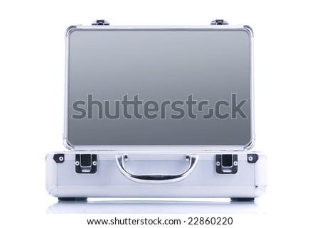 open case isolated on white background - stock photo