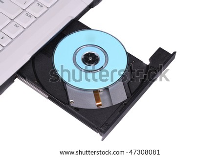 Open CD-driver. Isolated on a white background