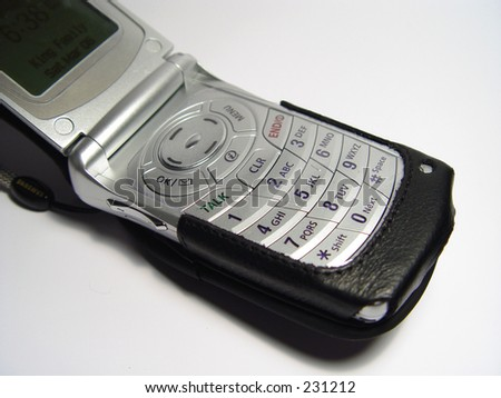 Open Cellular Phone with case