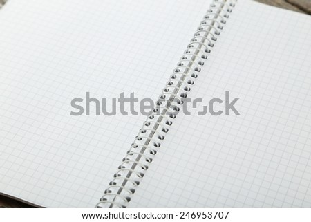 Open clear notebook