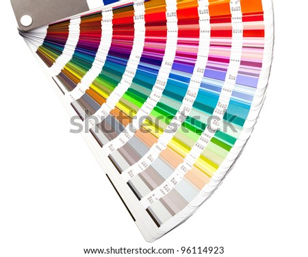 open color guide swatch, closeup - stock photo
