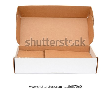 Open crate  box - stock photo