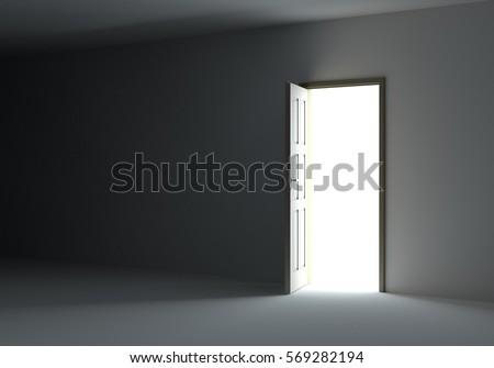Open Door Dark Room light open door dark room stock illustration 173650127 - shutterstock