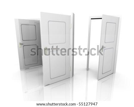 Open Doors - stock photo