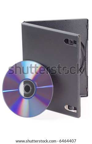 Open DVD box isolated on a white