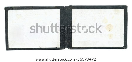 Open empty certificate isolated - stock photo