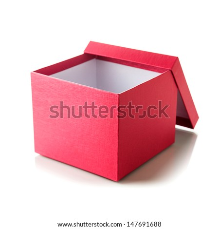 Open empty red box