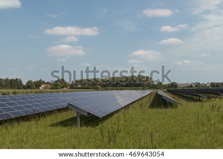 open field solar power system near munich