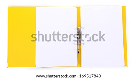 Open file folder isolated on white - stock photo