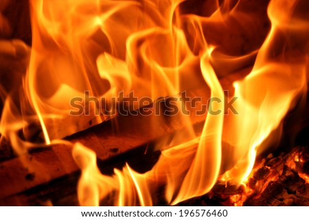 open fire - stock photo