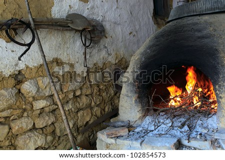 Open firewood oven